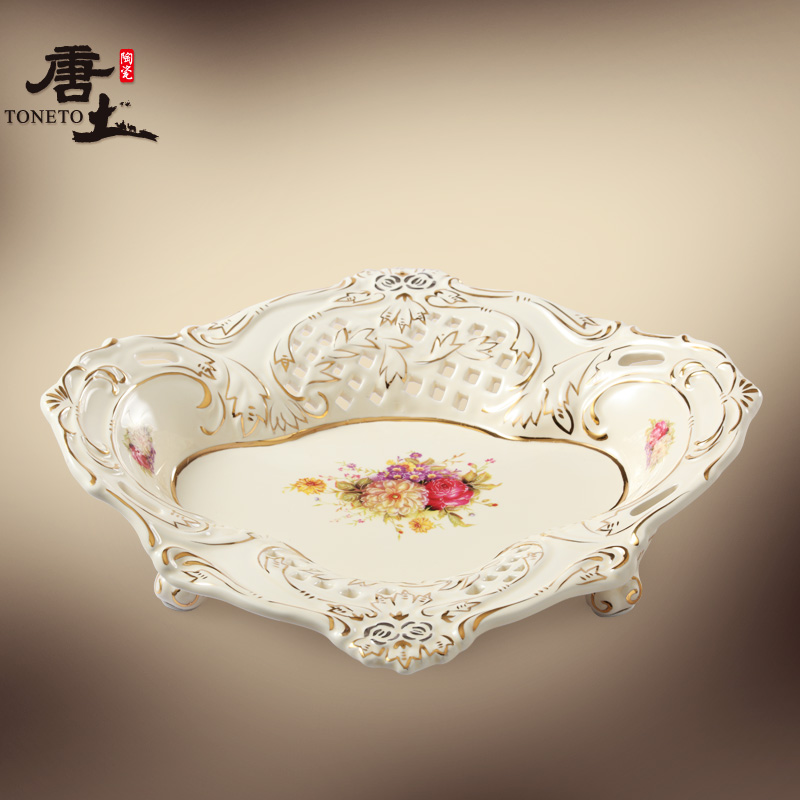 Tang Soil Ceramic Fruit Bowl European Garden Living Room Decoration