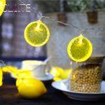 CLAITE 2m 20 Battery Power LED Lemon String Lights Indoor Outdoor <b>Garden</b> Decoration Christmas <b>Fruit</b> Shape String Lamp