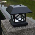 ADAINA LED Solar Power Wall Lights for Umbrella Tree <b>Fence</b> Street Lighting Post Lamp <b>Garden</b> Patio Yard Decoration White Emitting