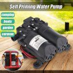 12V Dual Electric Motor 5.5LPM 105PSI High Pressure Self Priming Diaphragm <b>Water</b> Pump For Home <b>Garden</b> Boat Caravan Marine Pump