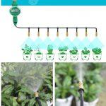Micro Drip Irrigation Plant Self Watering Brass Adjustable Misting Sprinkler <b>Garden</b> <b>Water</b> Irrigation Kits