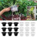 Behokic 25 PCS Plants Mesh Net Pot Cup Basket for <b>Hydroponics</b> Planting Grow Aquaculture 4.33 inch Outside Diameter <b>Garden</b> Supply