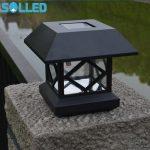 SOLLED Solar <b>Fence</b> Post Cap Lights Outdoor <b>Garden</b> Solar LED Post Deck Cap Auto Sensor <b>Fence</b> Light Landscape Lamp