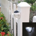 The new solar wall lamp <b>garden</b> solar <b>garden</b> lights LED solar wall lamp lamp semi-circular <b>fence</b>