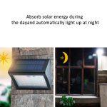 38 LED Solar Security Motion Sensor Wireless Lights IP65 Waterproof Lighting for <b>Garden</b> <b>Fence</b> Patio — JDH99