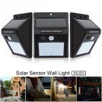 3pcs 20 LED Energy Saving Solar Light Motion Sensor Wall Lamp Outdoor Waterproof Courtyard Light for <b>Garden</b>/<b>Fence</b>/Patio