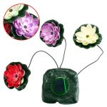 Fashion <b>Garden</b> Pool Floating Lotus Solar Light Night Flower Lamp For Pond <b>Fountain</b> Decoration Solar Lamps