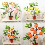 <b>Fruit</b> Trees Apple Indoor Flowers Bonsai Plastic Peach <b>Garden</b> Fake Trees Drop Shipping